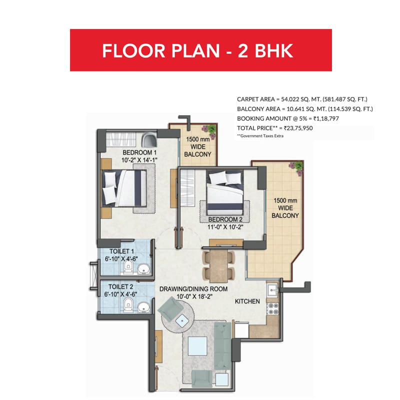 GLS-Avenue-81-Floor-Plan-2BHK
